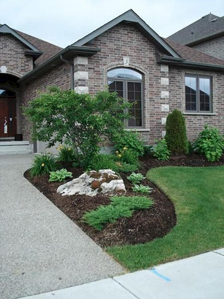 68+ BEST FRONT YARD ROCK GARDEN LANDSCAPING DECOR IDEAS ... on Front Yard And Backyard Landscaping Ideas id=77372