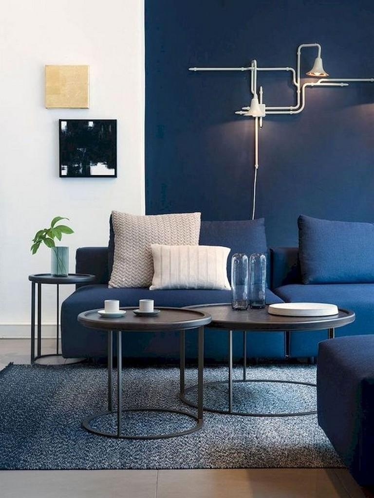 40 Amazing Blue Living Room Design Ideas
